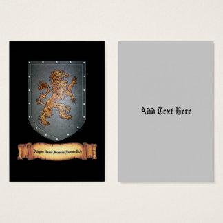 Metallschild-Löwe-lateinisches Schwarzes Visitenkarte