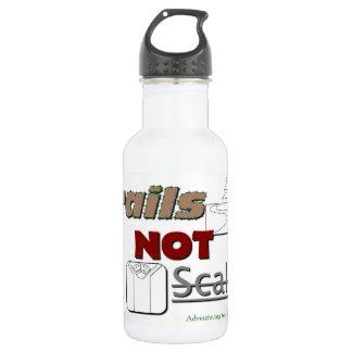 """Metallwasserflasche """"Hinter-NICHT Skalen """" Edelstahlflasche"""