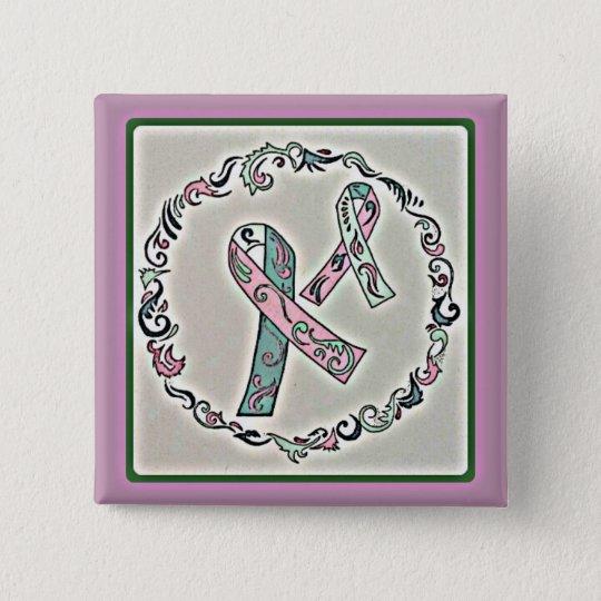 Metastatischer Brustkrebs 2 Quadratischer Button 5,1 Cm