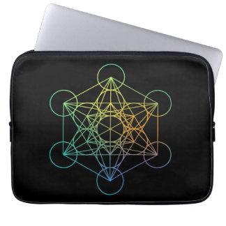 Metatron Würfel-heilige Geometrie Laptopschutzhülle