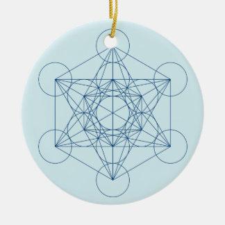 Metatrons Würfel Keramik Ornament