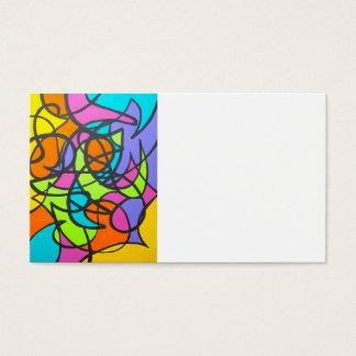 Metro-Mond-Hand gemalte abstrakte Kunst Visitenkarte
