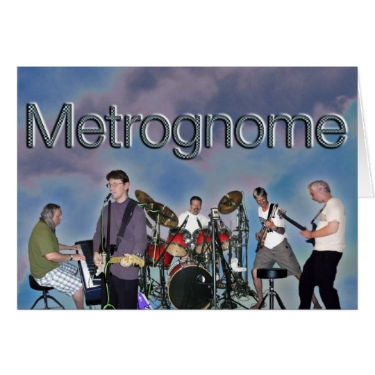 Metrognome Karten-freier Raum Grußkarte