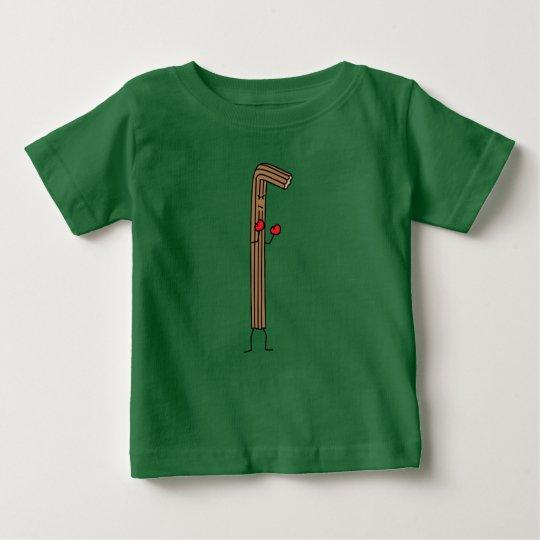 Mexikaner Churro Kämpfer mit roten Boxhandschuhen Baby T-shirt
