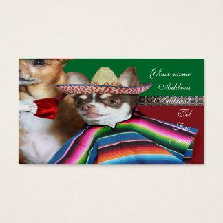 Mexikanische ChihuahuahundeVisitenkarten Visitenkarte