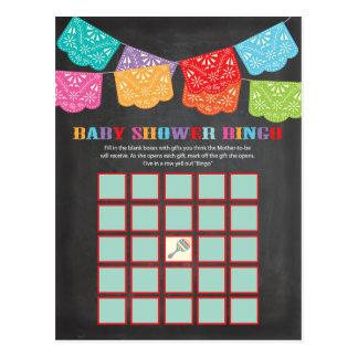 Mexikanische Fiesta-Babyparty-Bingospielkarte Postkarten