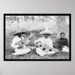 Mexikanische Gitarristen 1904 Posterdruck