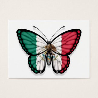 Mexikanische Schmetterlings-Flagge Visitenkarte
