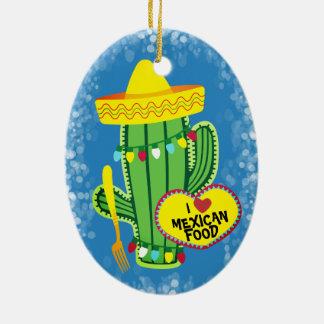Mexikanische Verzierung Nahrung des Scheinkaktus Keramik Ornament