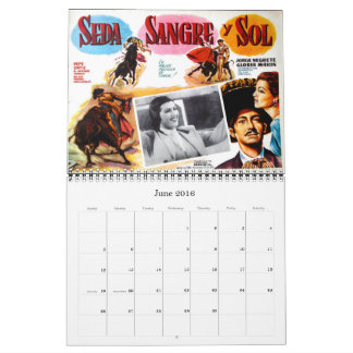 Mexikanischer Film-Plakat-Wandkalender Abreißkalender