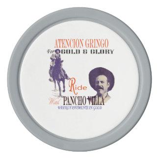 Mexikanischer Held-General Pancho Villas Poker Chip Set