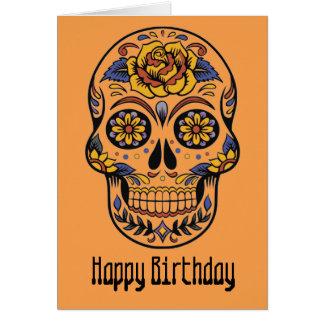 Mexikanischer Schädeltag des toten Geburtstages Karte
