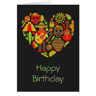 Mexikanischer Tag des toten Mexiko-Geburtstages Karte