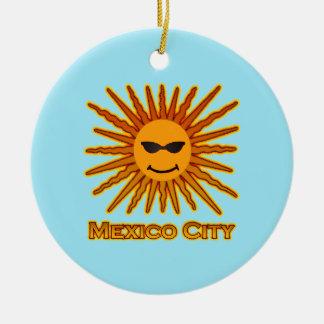 Mexiko City Sun stellen gegenüber Rundes Keramik Ornament