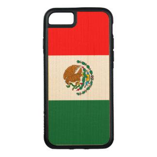 Mexiko-Flagge iPhone 7 Ahorn-hölzerner Stoßfall Carved iPhone 8/7 Hülle