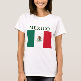 Mexiko-Flaggen-Damen-Petite T - Shirt