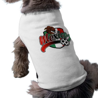 Mexiko-Fußball Ärmelfreies Hunde-Shirt