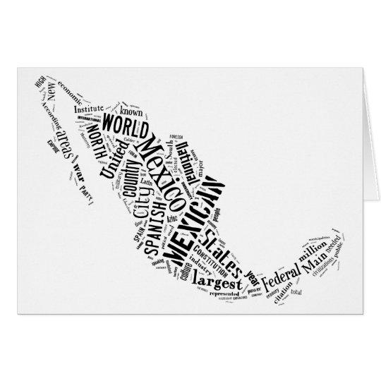 Mexiko in Tagxedo Grußkarte