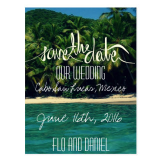 Mexiko-Strand-Hochzeit Save the Date Postkarte