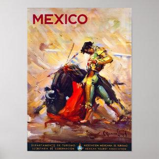 Mexikobullfighter-Vintages Reise-Plakat Poster
