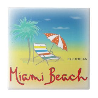 Miami Beach, Florida-Palmen-Fliese Keramikfliese