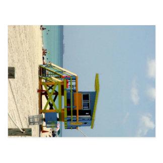 Miami Beach-Leibwächter-Bretterbude Postkarte