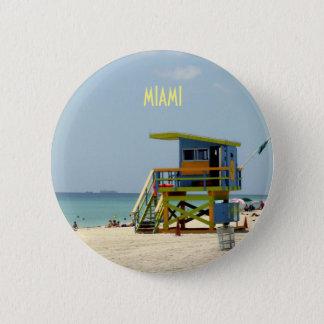 Miami Beach-Leibwächter-Bretterbude Runder Button 5,1 Cm