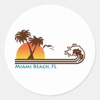 Miami Beach Runder Aufkleber