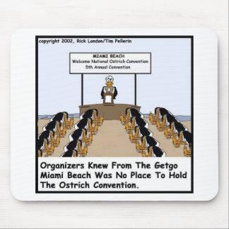 Miami Beachostrich-Vereinbarungs-lustige Geschenke Mousepads