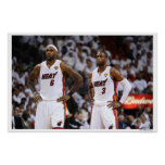 MIAMI, FL - 2 JUIN : LeBron James #6 et Dwyane Posters