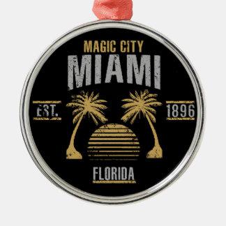 Miami Silbernes Ornament