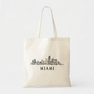 Miamiskylinezeichnen Tragetasche