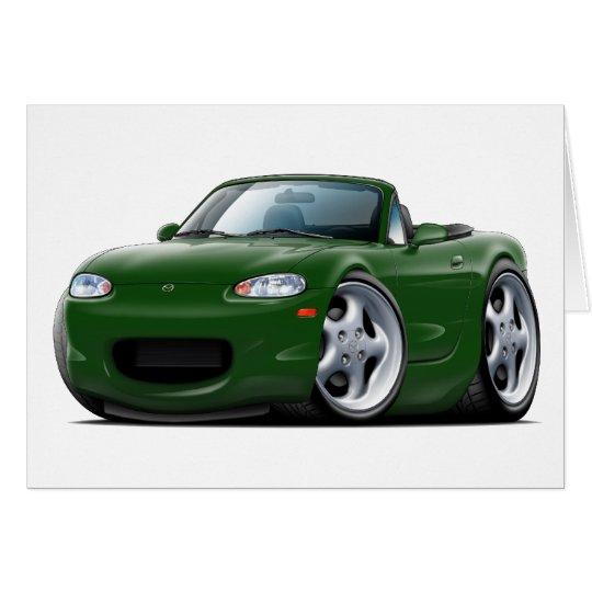 Miata grünes Auto 1999-05 Grußkarte