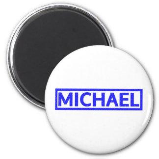 Michael-Briefmarke Runder Magnet 5,1 Cm