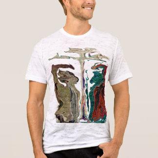 """""""Michael gegen Satan"""" durch Michael Crozz T-Shirt"""