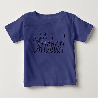 Micheal, Name, Logo, Baby-Jungen-Blau-T - Shirt