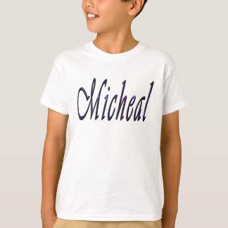 Micheal, Name, Logo, Jungen-Weiß-T - Shirt