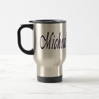 Micheal, Name, Logo, Reise-Kaffee-Tasse Reisebecher