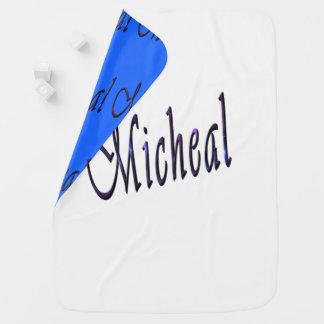 Micheal, Name, Logoreversible-gemütlich Baby-Decke Kinderwagendecke