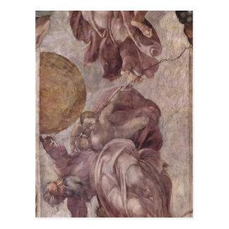 Michelangelo Buonarroti Deckenfresko zur Sch? Postkarte