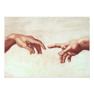 Michelangelo übergibt Einladungen