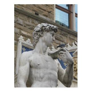 Michelangelos David, Florenz Italien Postkarte