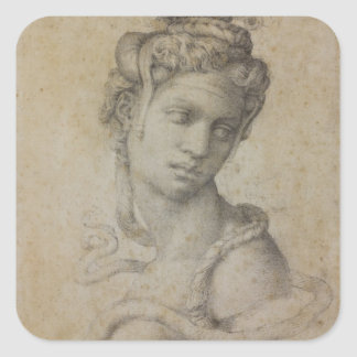 Michelangelos Kleopatra Quadratischer Aufkleber