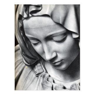 Michelangelos Pietadetail von Jungfrau-Marys Postkarte