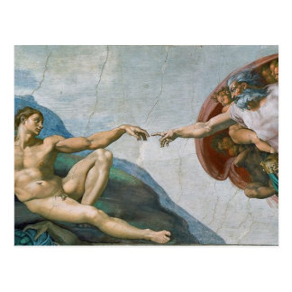 Michelangelos Sistine Kapellen-Postkarte Postkarte