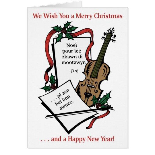 Michif Weihnachtskarte Grußkarte