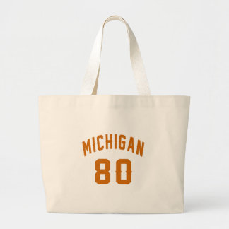 Michigan 80 Geburtstags-Entwürfe Jumbo Stoffbeutel