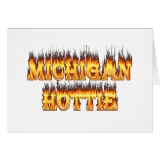 Michigan hottie Feuer und Flammen Karte