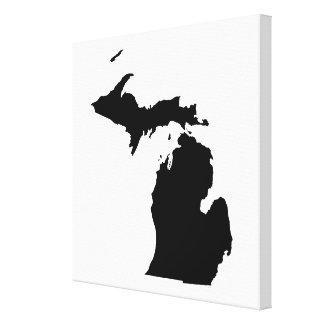 Michigan in Schwarzweiss Gespannte Galerie Drucke
