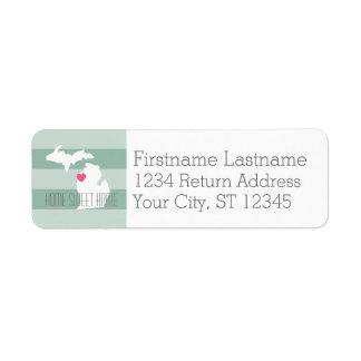 Michigan-Karten-Zuhause-Staats-Liebe mit